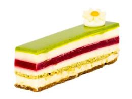 Pistachio Raspberry White Choc Slice